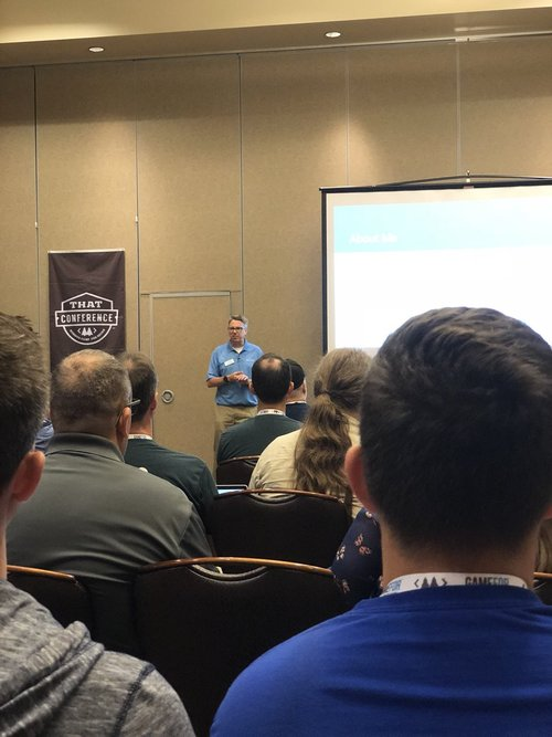 John Ptacek speaking at ThatConference 2018